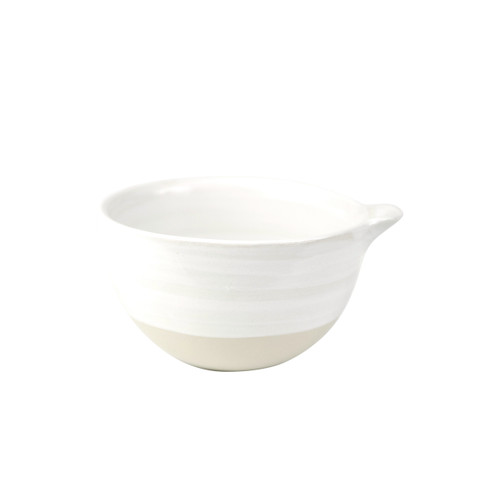 4 oz Spouted Nesting Bowl in White - Louisville Pottery Collection