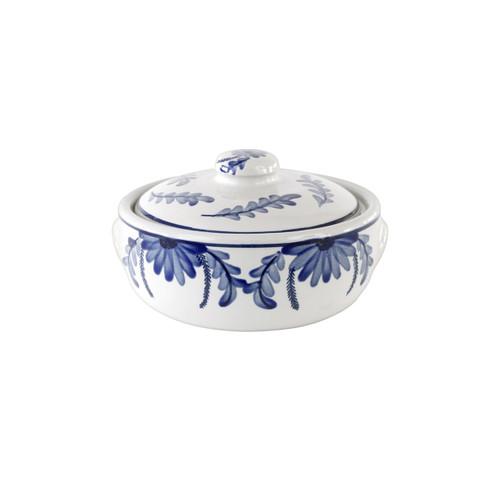 1 qt. Round Casserole and Cover in Elodie