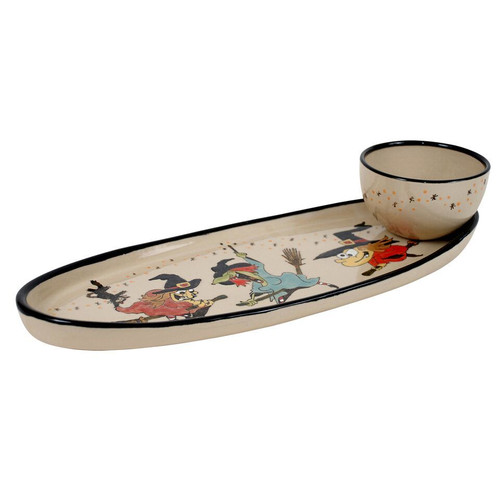 Witch Antipasto Tray with Bowl