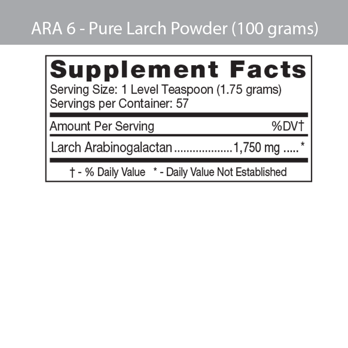 ARA 6 pure larch powder (100g)