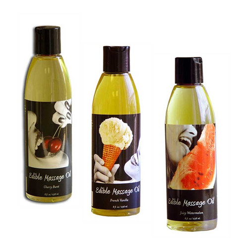 Flavored body oils