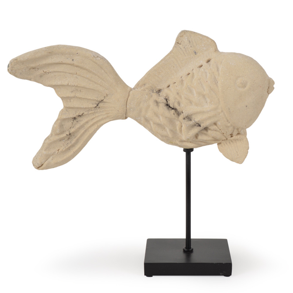 OUT-AS-951 Resin Goldfish on Aluminum Stand