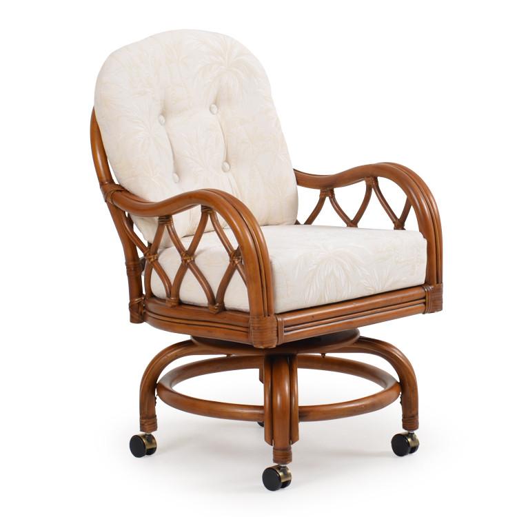 686-60 Swivel Tilt Caster Dining Chair
