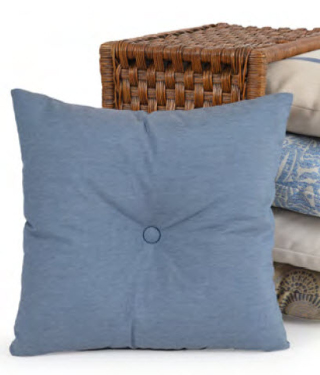 "BTN 15"" Square Button Pillow"
