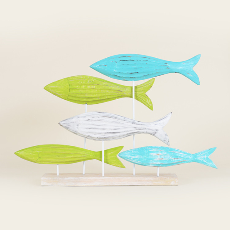16-131 Wooden Fish On Stand