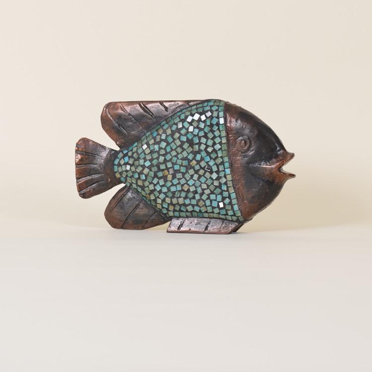 11-073 Wooden Mosaic Fish