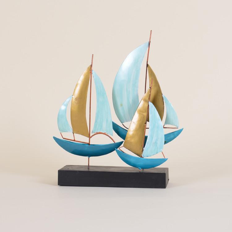 11-080 Metal Sailboats On Stand