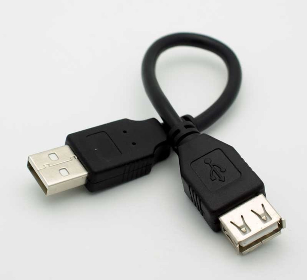 7-Inch USB Extension Cord
