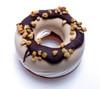 Chocolate Hazelnut Frozen Donut with Vanilla Center