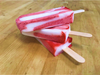 JUMBO Sorbet Popsicle made with refreshing lychee and strawberry puree sorbet