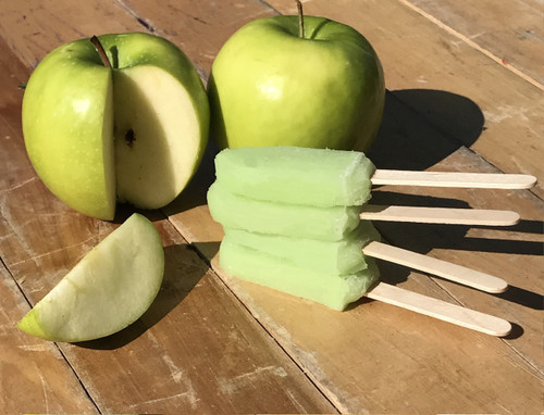 Green Apple Popsicle made with tangy green apple sorbet
