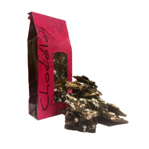 Chocolate Bark - Crushed Cookies - 9 oz Bag