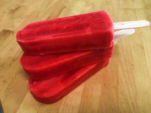 JUMBO Sorbet Popsicle made with refreshing sour cherry puree sorbet