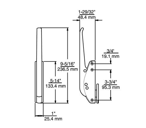 Kason 533D Cooler Latch Body 533D00004
