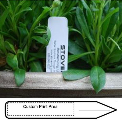 "6 x 1"" PRINTED STAKE TAG, WHITE (QTY: 100)"
