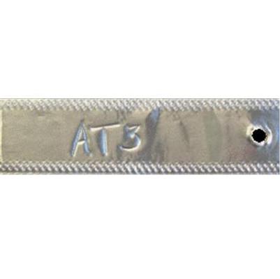 """3 x 7/8"""" Aluminum Tags"""