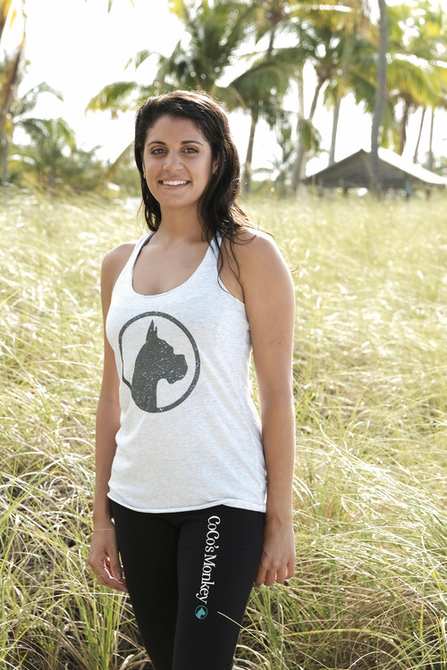 CoCo's Monkey Island Icon Tank Heather Sand White