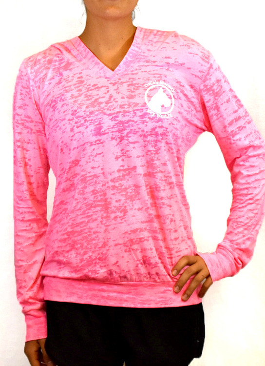 CoCo's Monkey Burnout Island Hoody Neon Pink
