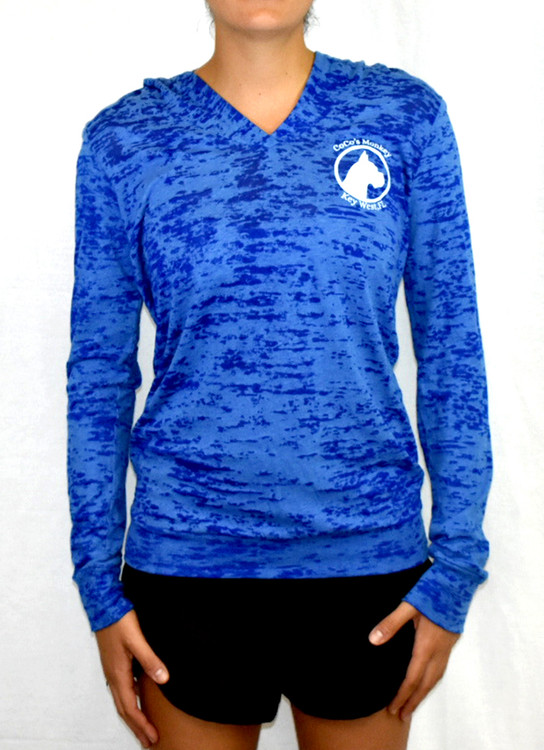 CoCo's Monkey Burnout Island Hoody Royal Blue