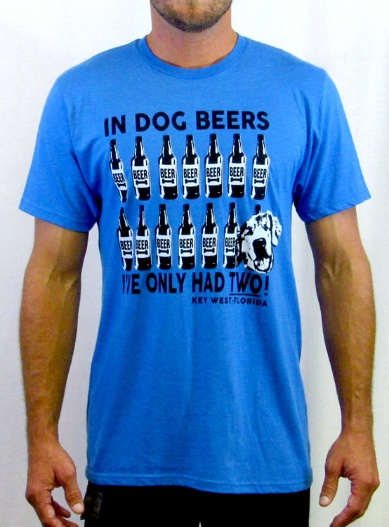 Dog Beers Tee Royal Blue