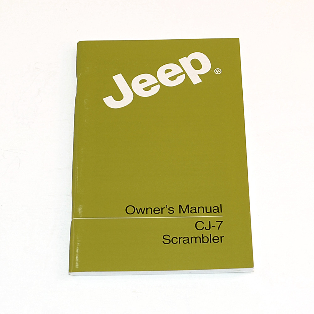 '84-'85 CJ Factory Owners Manual · ' ...