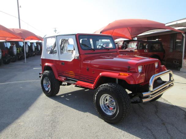 sold 1989 jeep wrangler islander edition stock 121203 collins bros jeep. Black Bedroom Furniture Sets. Home Design Ideas