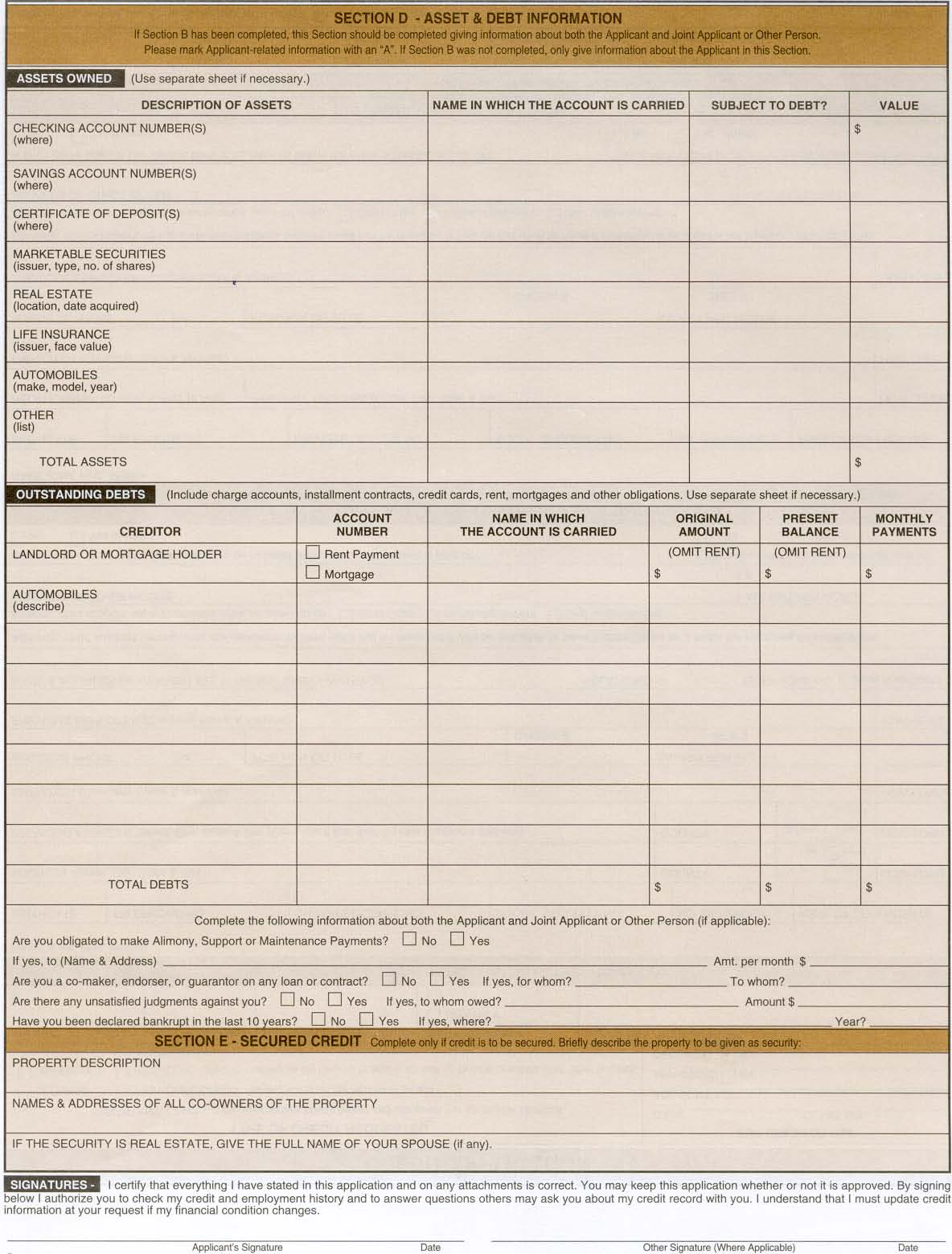 Page 1 Finance Application