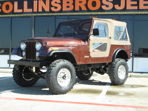 sold 1983 jeep cj 7 chestnut brown metallic 4x4 stock. Black Bedroom Furniture Sets. Home Design Ideas