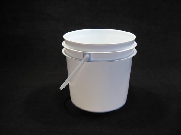 1 Gallon Food Grade Plastic Pails & 3-1/2 Gallon White Food Grade Plastic Pail - Lappeu0027s Bee Supply