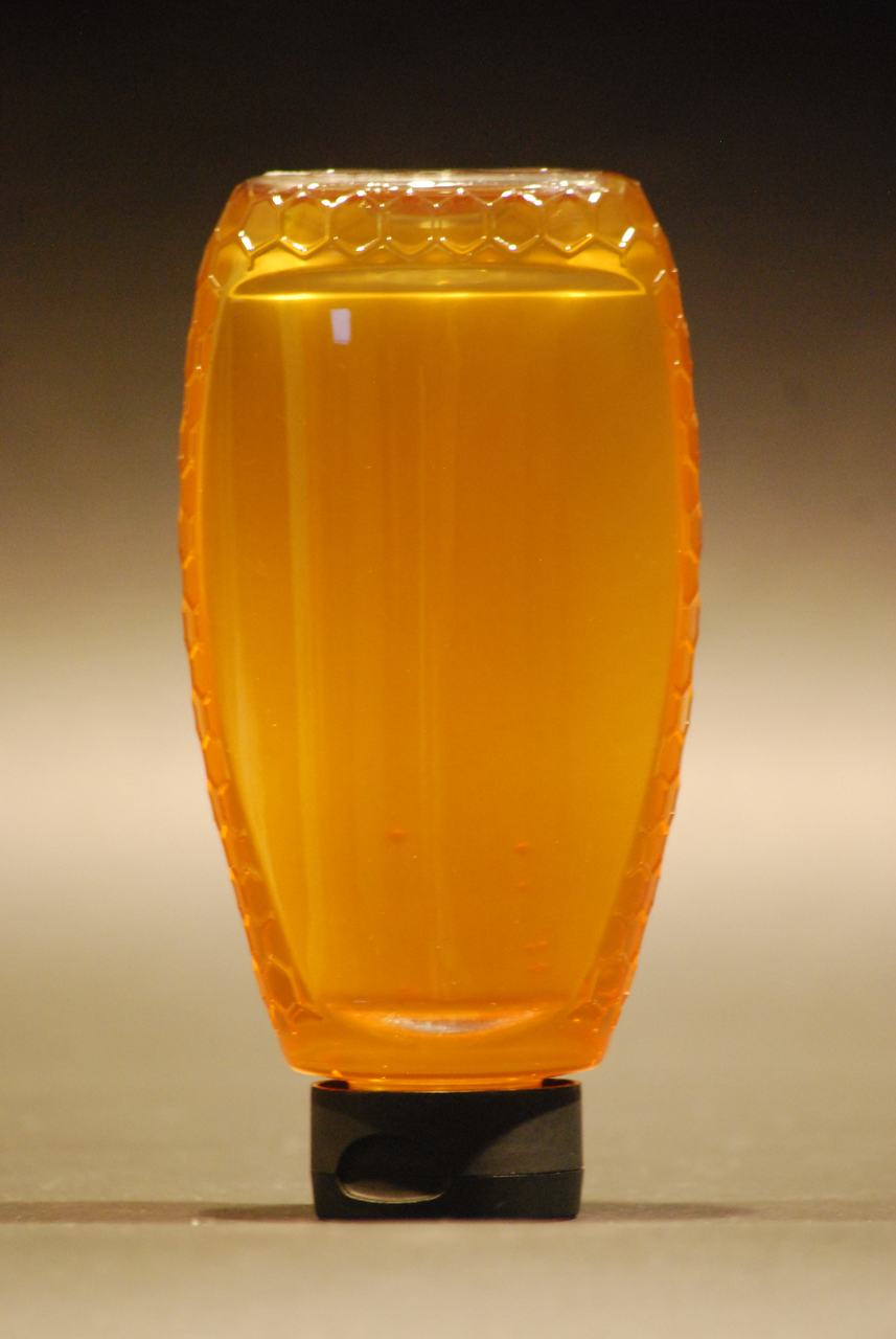 24 oz. Inverted Hex Embossed Plastic Honey Containers