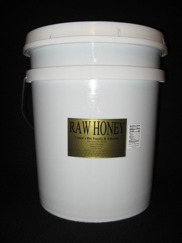 60 lb. bucket of raw Iowa honey
