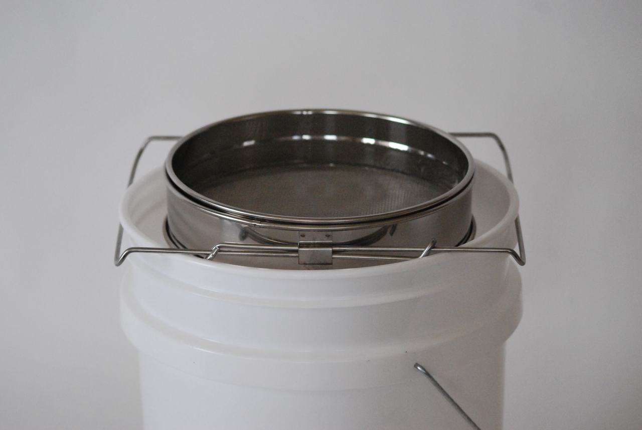 Stainless Steel Double Sieve on bucket