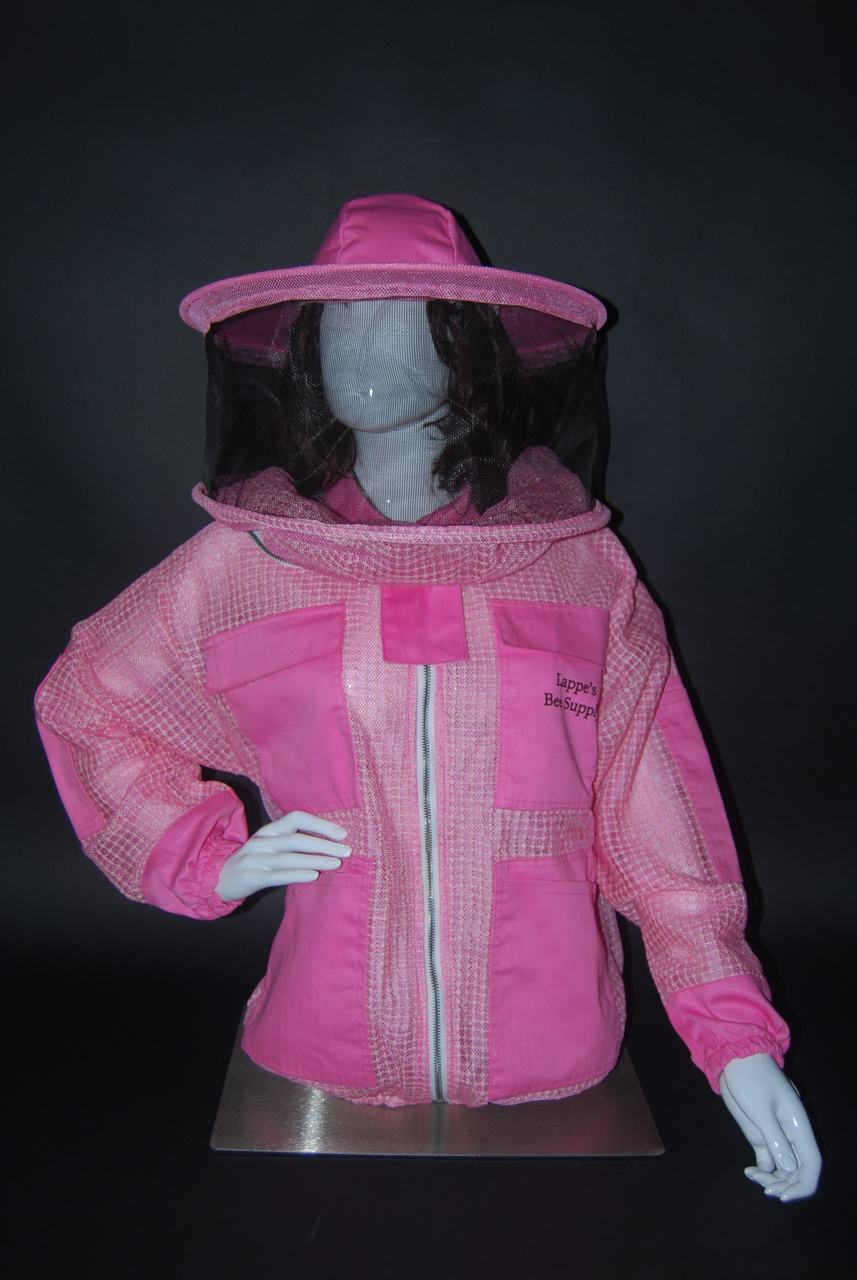 Pink Ventilated Bee Jacket with Round Veil