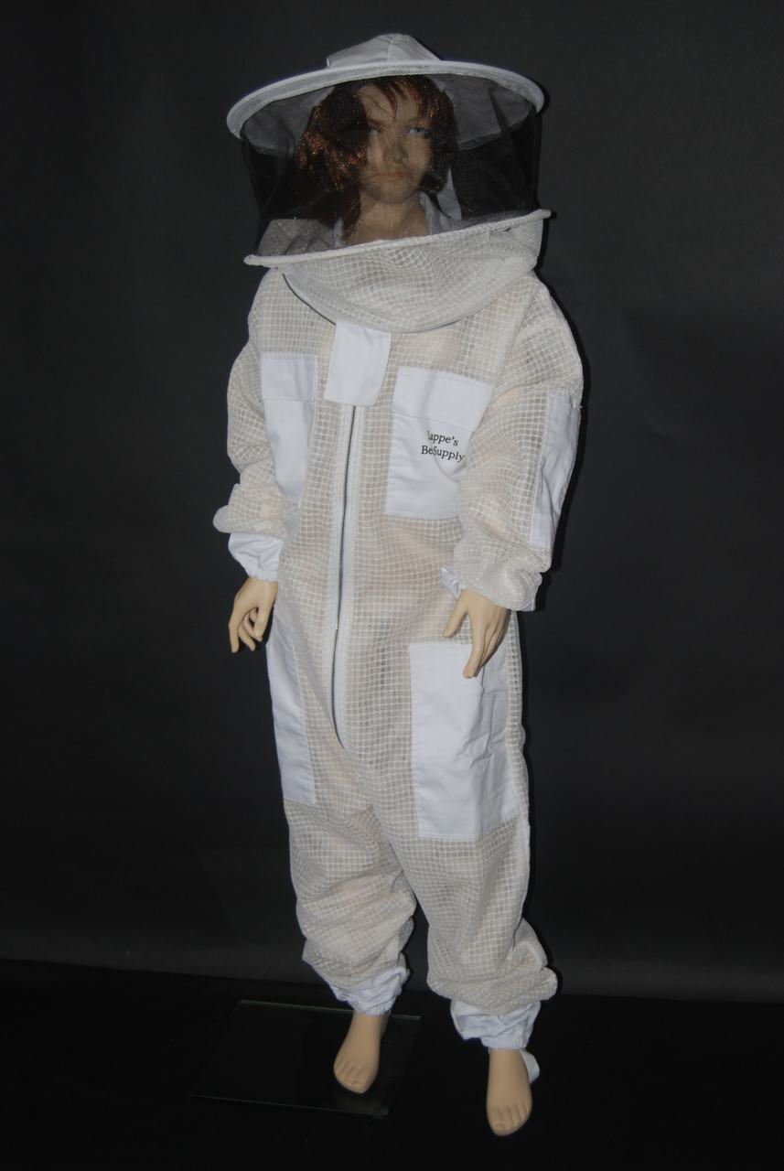 Ventilated Bee Suit with Round Veil