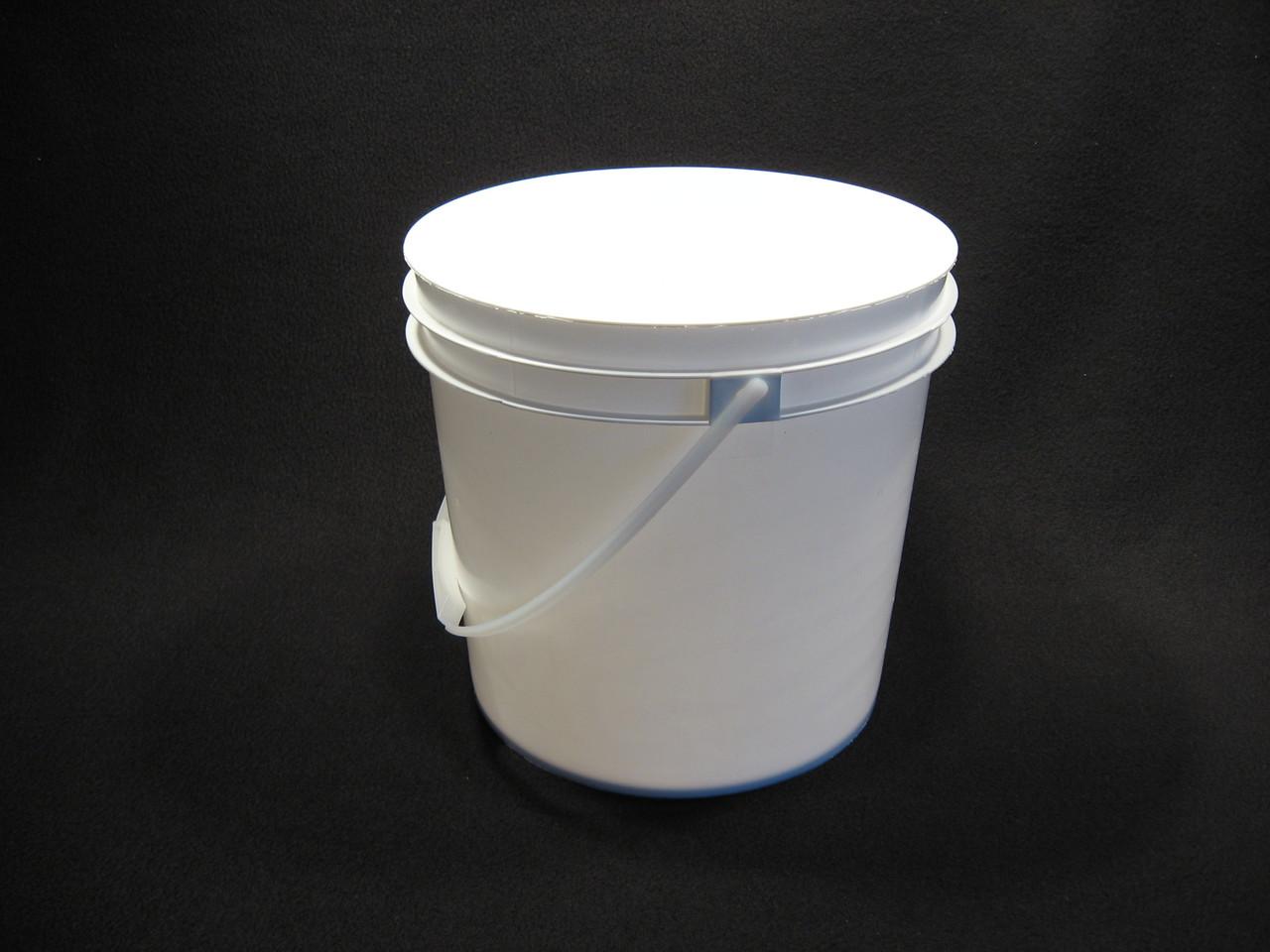 2 Gallon White Food Grade Plastic Pail Lappe S Bee Supply