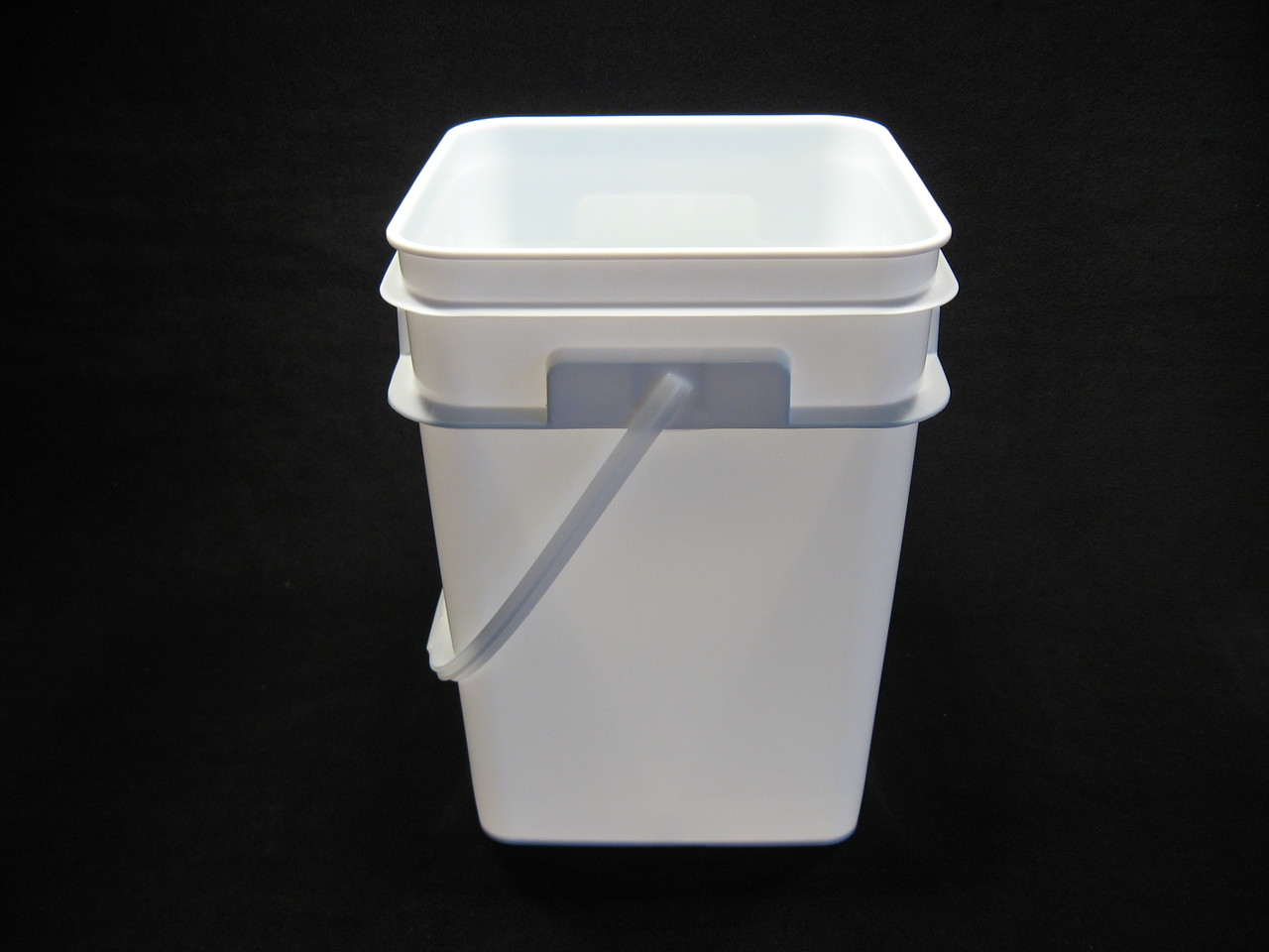 4 Gallon Square White Food Grade Plastic Pail Lappes Bee Supply