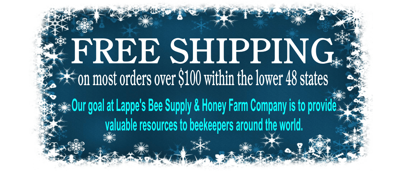 Free shipping beekeeping equipment and supplies Lappe's Bee Supply and Honey Farm LLC