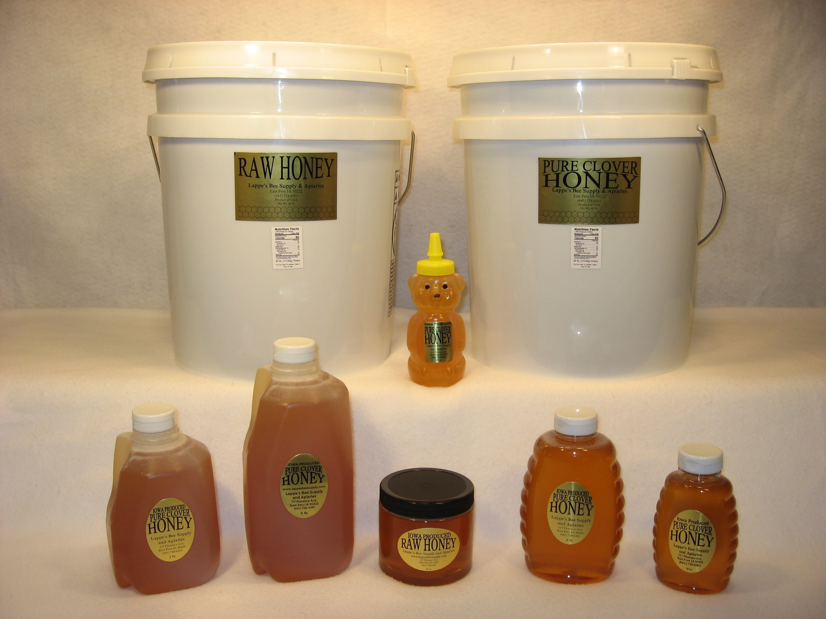 Iowa honey for sale at Lappe's Bee Supply