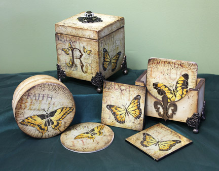 Butterfly Coasters DVD & Pattern Packet - Patricia Rawlinson