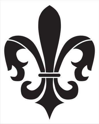"Jumbo Fleur De Lis Stencil - 11 1/2"" x 14"""
