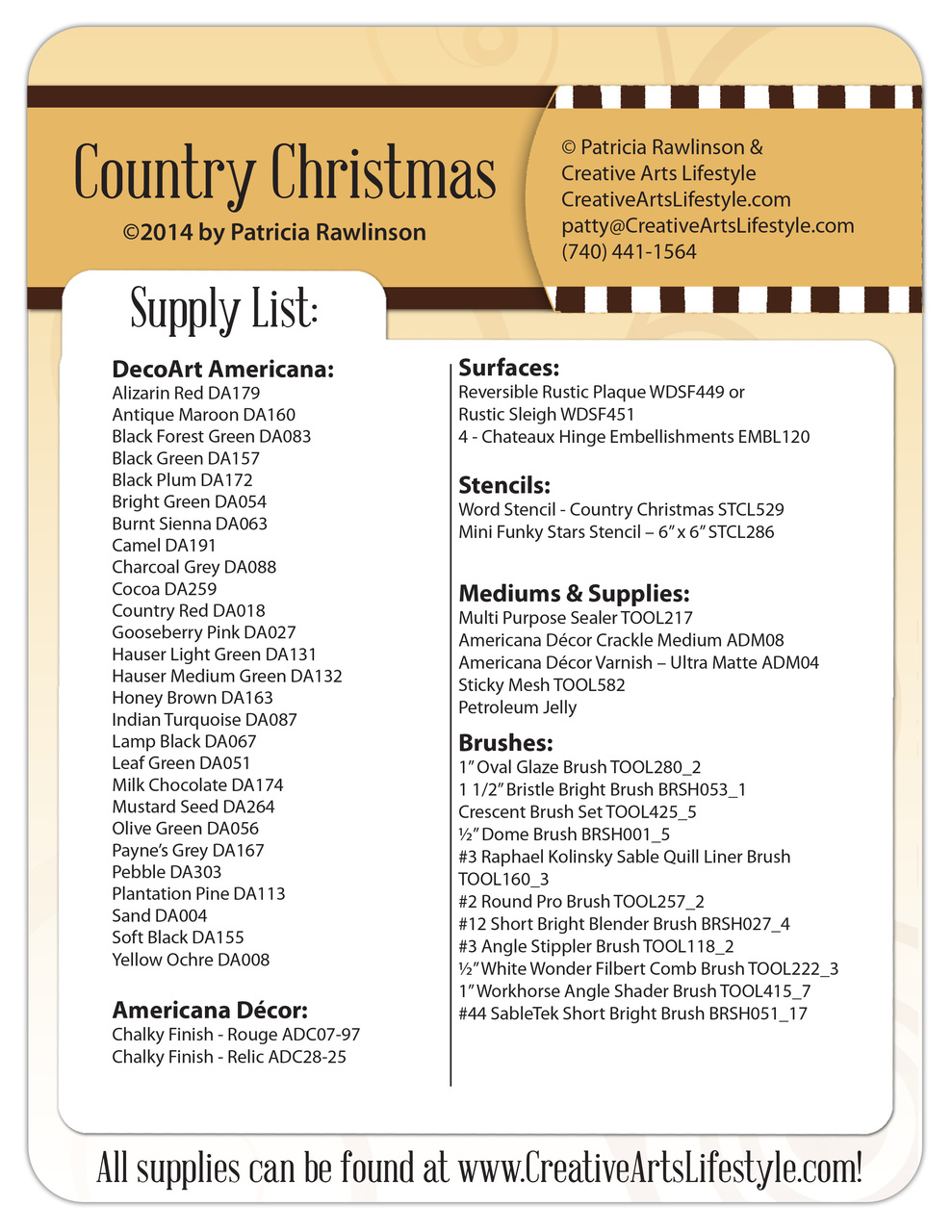 Country Christmas DVD & Pattern Packet