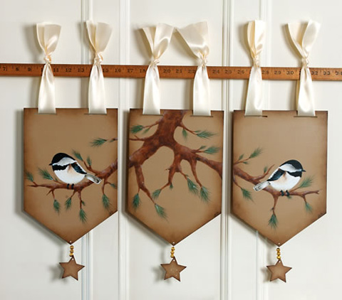 Chickadee Window Toppers - E-Packet - Anita Morin