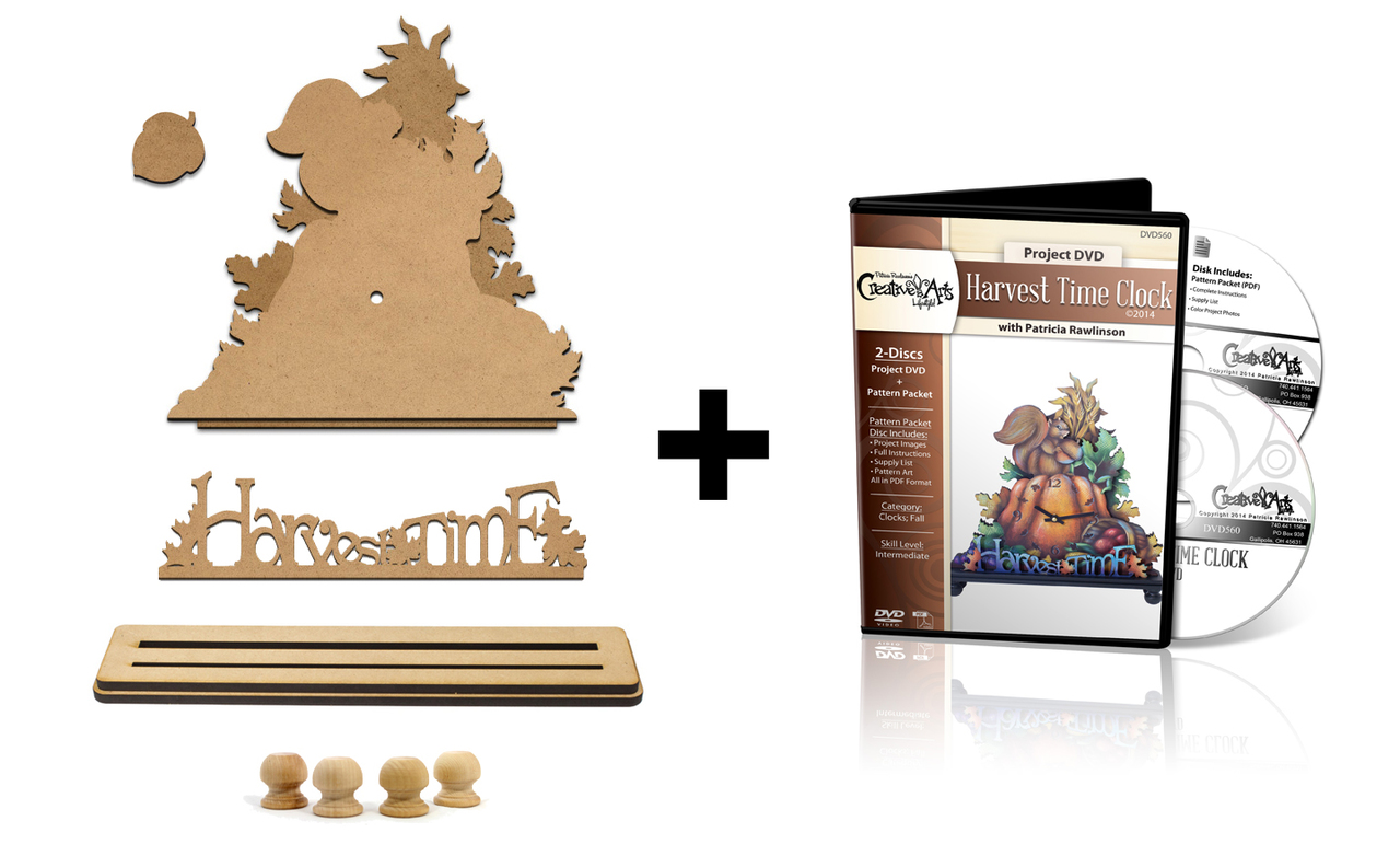 Standing Clock Surface Set - Harvest Time & DVD Combo