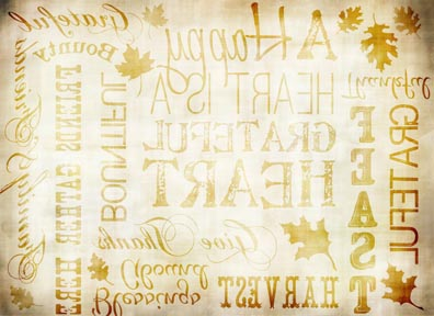 """Fall Words Antique Transfer Paper - 8"""" x 10.5"""""""