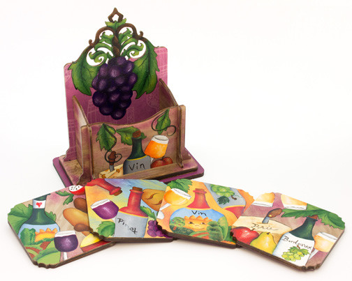 Wine Coaster Set - E-Packet - Beverly Maitland