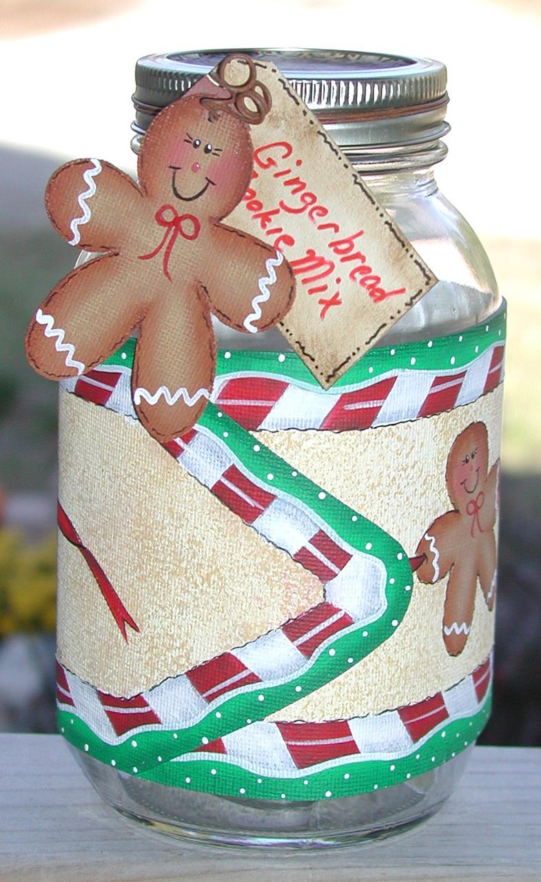 Gingerbread Man Jar Wrap - E-Packet - Vera Collier