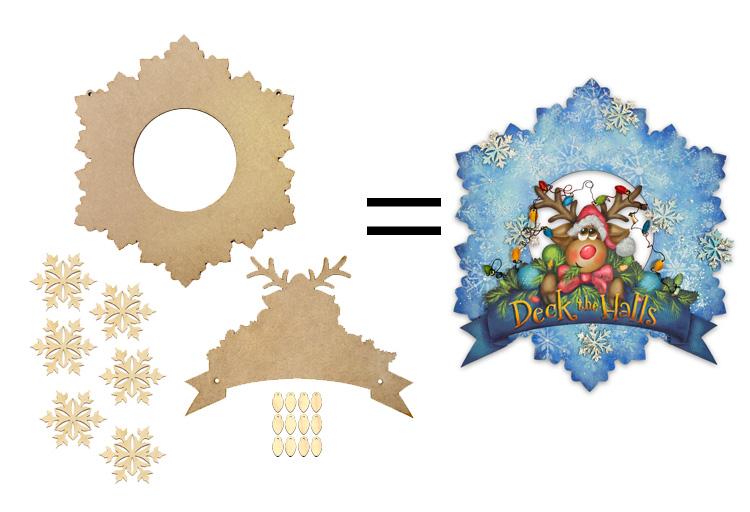 Deck the Halls Winter Wreath Surface Set