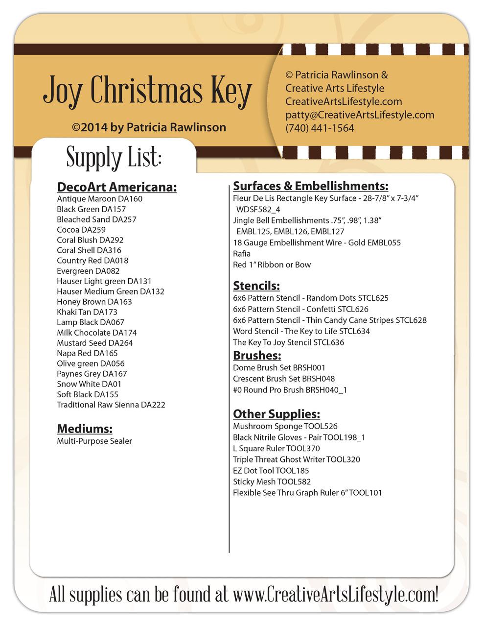 Joy Christmas Key DVD + E-Packet