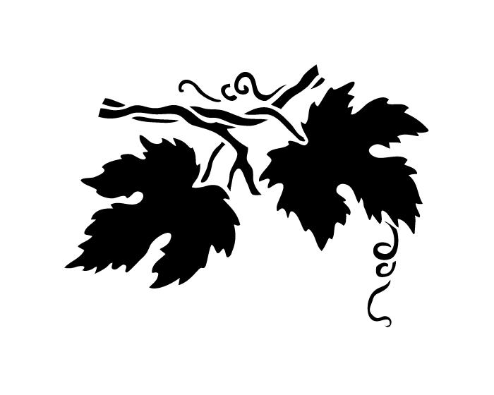 Grape Leaves Stencil