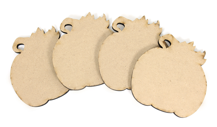 Pumpkin Coasters - Set of 4